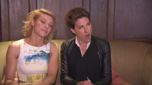 interview tamsin greig kathleen rose perkins on season 4 of episodes being finished becoming real friends their characters friendship at 'episodes'... - season 4 stock videos and b-roll footage