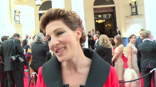 interview tamsin greig on being nominated and why she loves the bafta's at house of fraser british academy television awards - british academy television awards stock videos & royalty-free footage