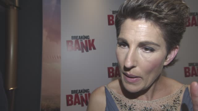 interview tamsin greig on working with kelsey grammer the banking system matt leblanc on top gear at 'breaking the bank' uk gala screening at empire... - matt leblanc stock videos and b-roll footage