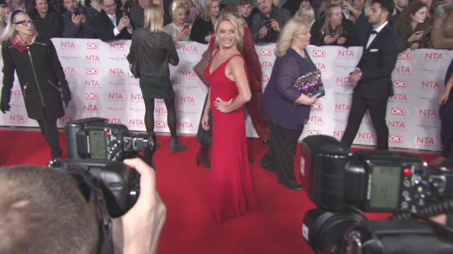 Tamzin Outhwaite Leigh Francis at National Television Awards at The O2 Arena on January 23 2018 in London England