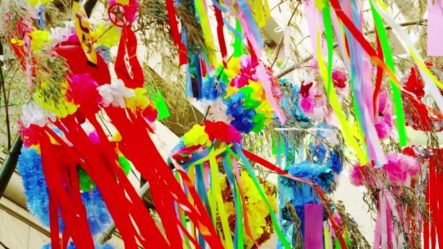 tanabata festival. - 伝統行事点の映像素材/bロール