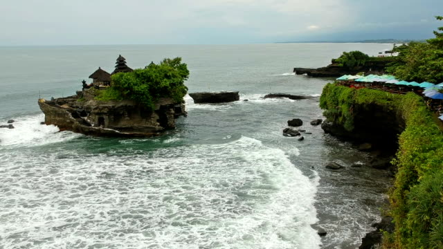 Tanah Lot Island and Temple, Bali, Indonesia