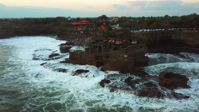 タナロット寺院、バリ、インドネシア、タナロット4k解像度 - プラタナロット点の映像素材/bロール