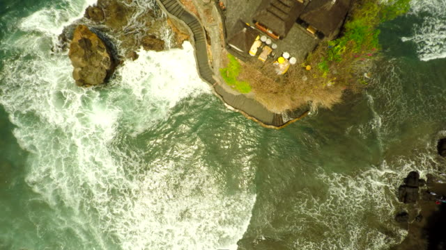 AERIAL Tanah Lot Temple In Bali