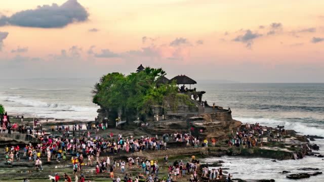 バリ島の海のタナロット寺院インドネシア - 映像技法点の映像素材/bロール
