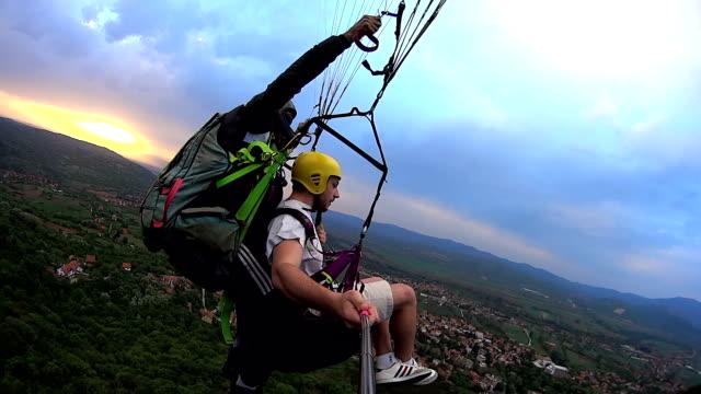 tandem paragliding - paragliding stock videos & royalty-free footage