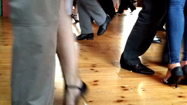 tango ballroom - tangoing stock videos & royalty-free footage