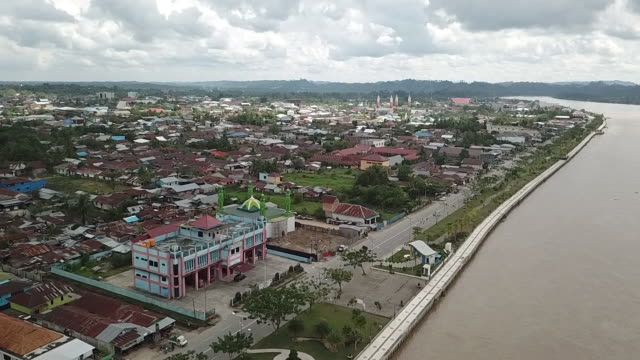 tanjung selor city, borneo. - kalimantan stock videos and b-roll footage