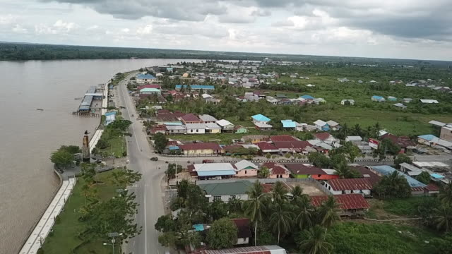 tanjung selor city, borneo. - ボルネオ島点の映像素材/bロール