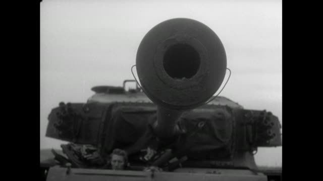 tank gun barrel rises; 1956 - british military stock videos & royalty-free footage