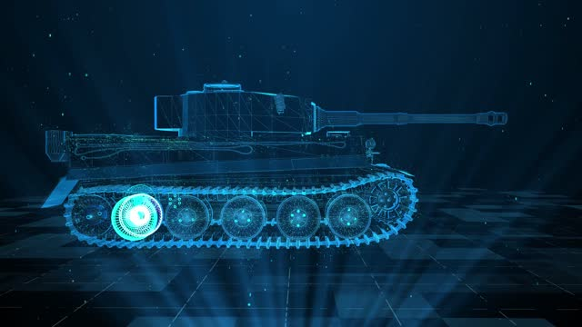 3d tank military technology and digital analysis 4k - armored tank stock videos & royalty-free footage