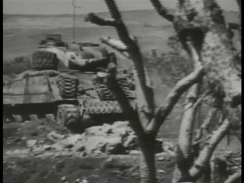 tank moving. vs flamethrower tank, tanks throwing flames hillside, arched, flames shooting onto ground. - iwo jima island stock videos & royalty-free footage