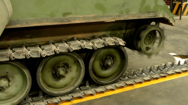 tank tracks and wheels during military - armored tank stock videos & royalty-free footage