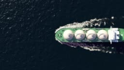 LNG tanker in the ocean