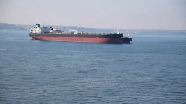 tanker in the sea