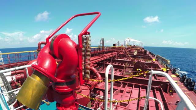 oljefartyg för tankfartyg - tanka aktivitet bildbanksvideor och videomaterial från bakom kulisserna