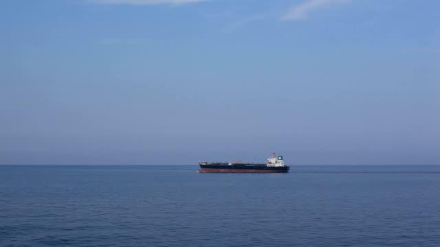 Tanker sailing to loading port.
