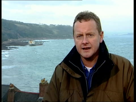 tanker salvage operation itn alf tupper interviewed sot vessel has been ventilating for 24 hours has had air forced into it / no significant smell of... - kingsand video stock e b–roll