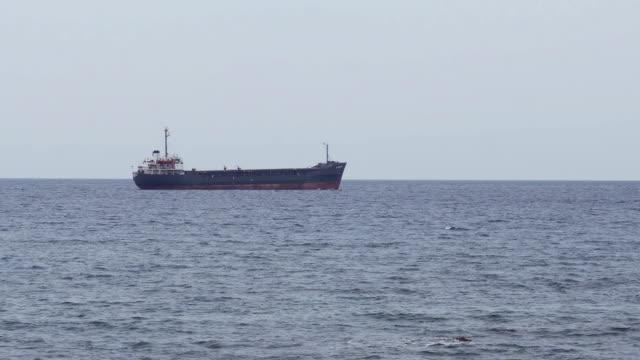 tanker ship sailing in sea - mediterranean sea stock videos & royalty-free footage