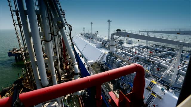 vídeos y material grabado en eventos de stock de terminal de lng petrolero - estación edificio de transporte