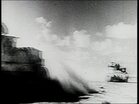 tanks advancing past camera / tank being fired on - tank stock videos & royalty-free footage