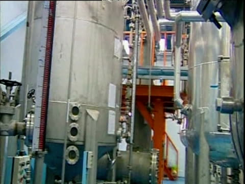 Tanks and pipe work for nuclear conversion of uranium inside Iranian research facility Isfahan