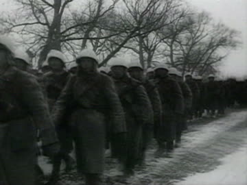 tanks and soldiers marching on snow also soldiers discusing about war audio / moscow, russia - moscow russia stock videos & royalty-free footage
