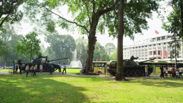Tanks in the Park of Reunification Palace