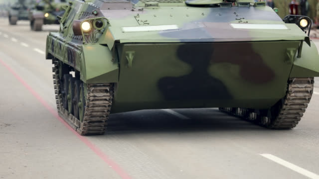 tanks on city streets - armoured vehicle stock videos & royalty-free footage