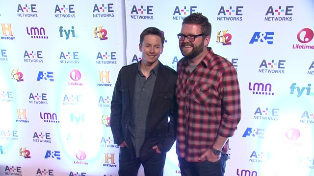 tanner foust and rutledge wood at 2014 ae networks upfront arrivals at park avenue armory on may 08 2014 in new york city - waffenlager stock-videos und b-roll-filmmaterial
