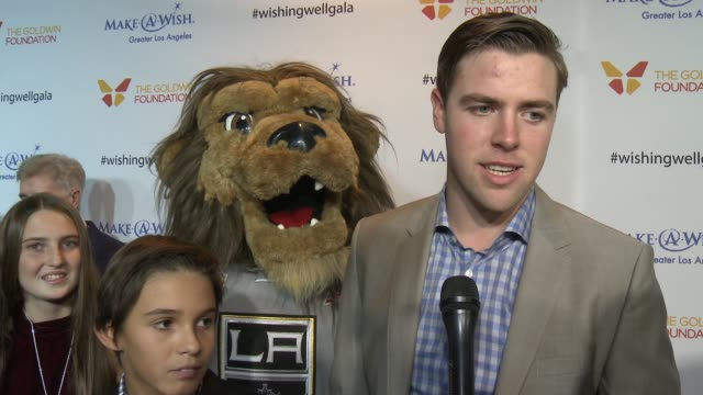 interview tanner pearson on the event at 4th annual wishing well winter gala presented by makeawish greater los angeles in los angeles ca - wishing well stock videos & royalty-free footage