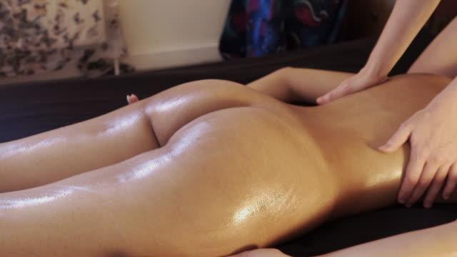 tantric massage. - 太もも点の映像素材/bロール