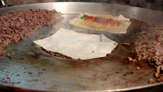 tantuni traditional turkish kebab. - kebab stock videos and b-roll footage