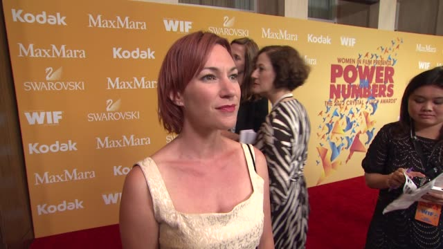 tanya franks on why she wanted to celebrate women in film the importance of empowering women what women inspire her and talks about her role in liz... - the beverly hilton hotel stock videos & royalty-free footage