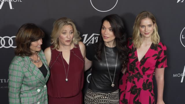 tanya lopez, jamie denbo, sera gamble, and elizabeth lail at the variety's power of women: los angeles at the beverly wilshire four seasons hotel on... - フォーシーズンズホテル点の映像素材/bロール