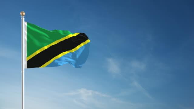 4K Tanzania Flag - Loopable