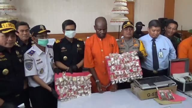 A Tanzanian man was arrested in Bali after more than a kilogram of methamphetamine was found inside his stomach Indonesian authorities say