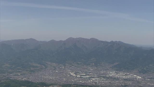 AERIAL, Tanzawa Mountains And Towns In Kanagawa, Japan