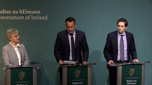 taoiseach leo varadkar announces at the government buildings in dublin that a referendum on the repeal of the eighth amendment will happen at the end... - abortion stock videos and b-roll footage