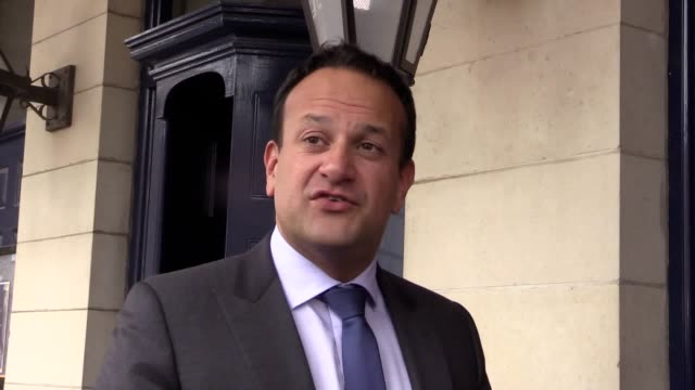 taoiseach leo varadkar apologises for comments he made against the opposition leader micheal martin comparing him to a sinning priest saying he did... - leo varadkar stock videos and b-roll footage