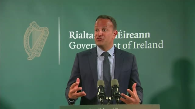 taoiseach leo varadkar comments about discussions with u.s. president donald trump on brexit and the border with northern ireland. - united states and (politics or government) stock videos & royalty-free footage