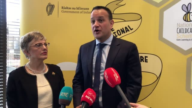 taoiseach leo varadkar discussing the case of irish woman lisa smith who is being detained in syria suspected of links to the islamic state she was a... - leo varadkar stock videos and b-roll footage