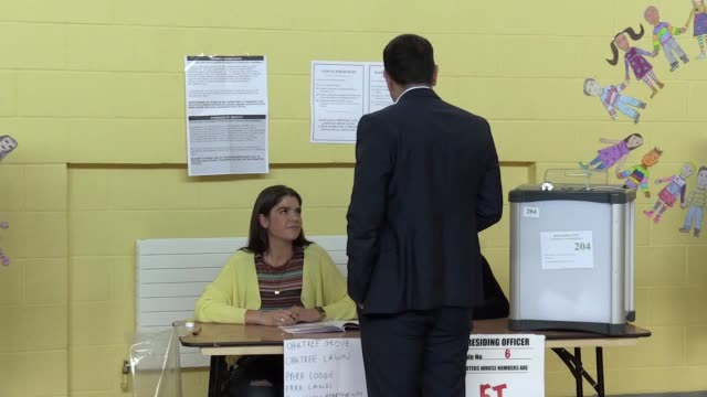 taoiseach leo varadkar has cast his vote in the ireland's historic referendum on whether to liberalise abortion laws - leo varadkar stock videos and b-roll footage
