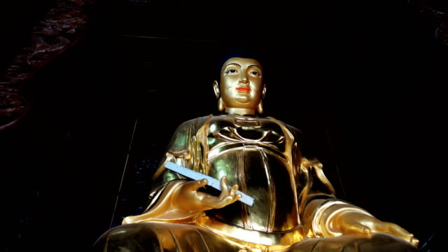 taoist immortal statues in temples,xi'an,china. - chan buddhism stock videos & royalty-free footage