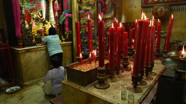 taoist temple in samut prakam, bangkok - altar stock videos & royalty-free footage