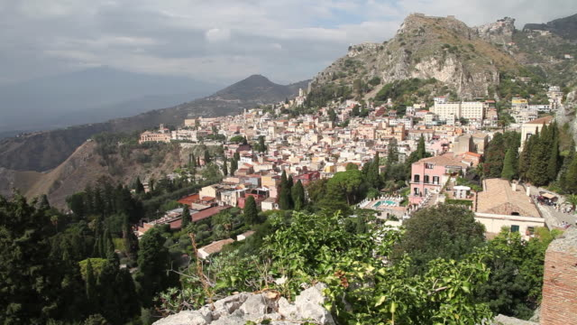 Taormina, view of the city and the coast line