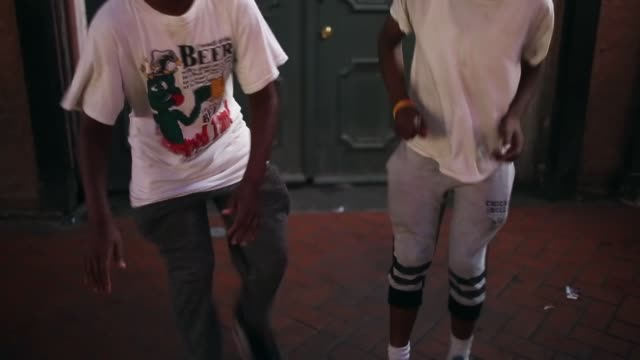 tap dancers perform in the french quarter on may 10, 2015 in new orleans, louisiana. the tenth anniversary of hurricane katrina, which killed at... - tapping stock videos & royalty-free footage