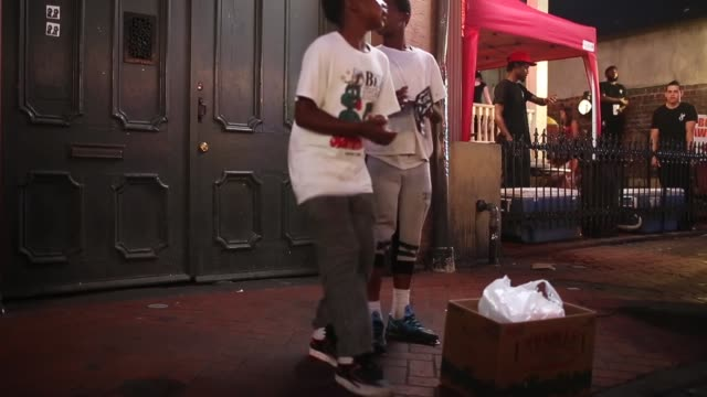 tap dancers perform in the french quarter on may 10 2015 in new orleans louisiana the tenth anniversary of hurricane katrina which killed at least... - performer stock videos & royalty-free footage