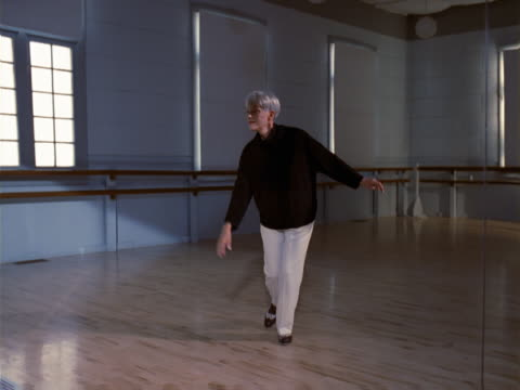 tap dancing senior lady - dance studio stock videos & royalty-free footage