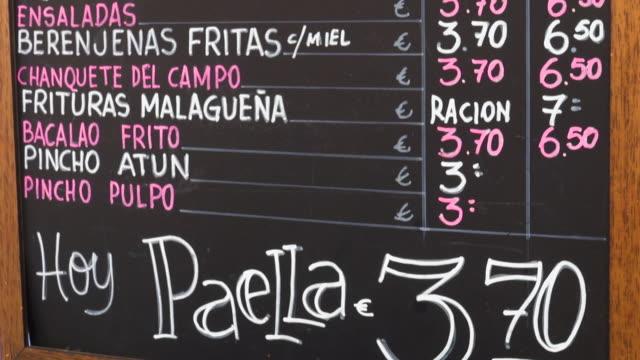 tapas bar sign - tapas stock videos & royalty-free footage
